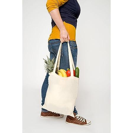 Unbekannt Baumwolltasche Jutebeutel Einkaufstasche Lange Henkel