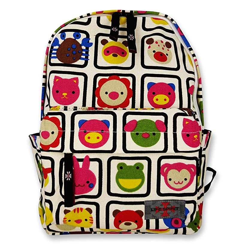 Backpack for Kids Made with Canvas Material in Animals Print