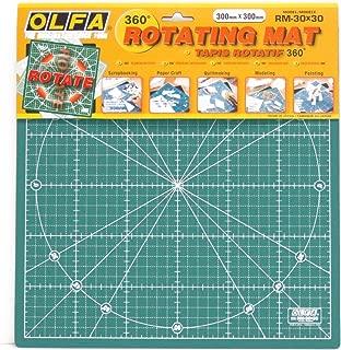 Olfa 30 x 30 CM 1-Piece Rotating Mat, Green
