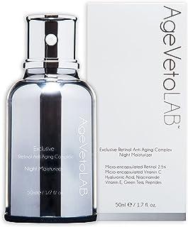 Crema de antienvejecimiento retinol encapsulado uso de noche hidratante complejo exclusivo con vitamina C ácido hialu...