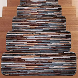 VOCOOL Stone Carpet Stair Treads Anti-Skid Pet Dog Stairs Rug Non-Slip Floor Step Mats Seamless Adhesive Pad 27.5x8.6 inch (Pack of 13)