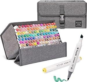 Sanjoki Art Markers 119 Colors&Colorless blender Alcohol Brush Marking Pen For Artist and Students
