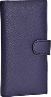Leather Checkbook Cover for Women – Duplicate Check credit card Money compartment and Pen Holder Wallet