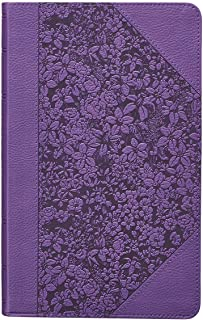 KJV Holy Bible, Giant Print Standard Bible, Purple Faux Leather Bible w/Ribbon Marker, Red Letter Edition, King James Version