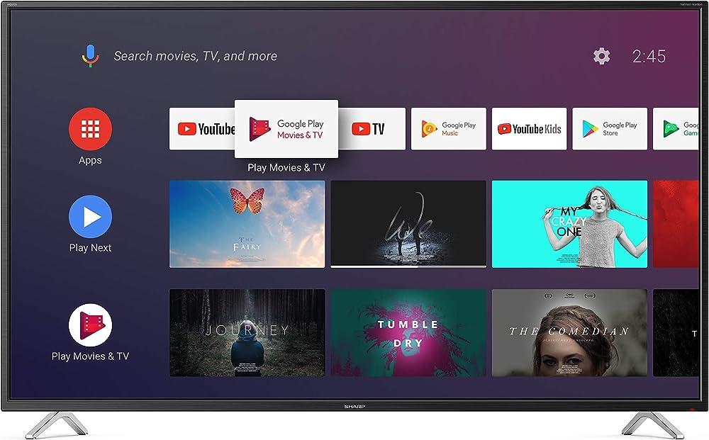 Sharp aquos 4t smart tv 40 pollici ,4k ultra hd android 9.0, wi-fi 4T-C40BL2EF2AB
