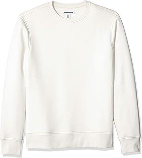 Amazon Essentials - Patterened Crewneck Fleece Sweatshirt, Felpa Uomo
