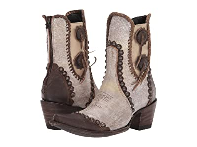 Double D Ranchwear by Old Gringo Stockyards (Crackled White) Cowboy Boots