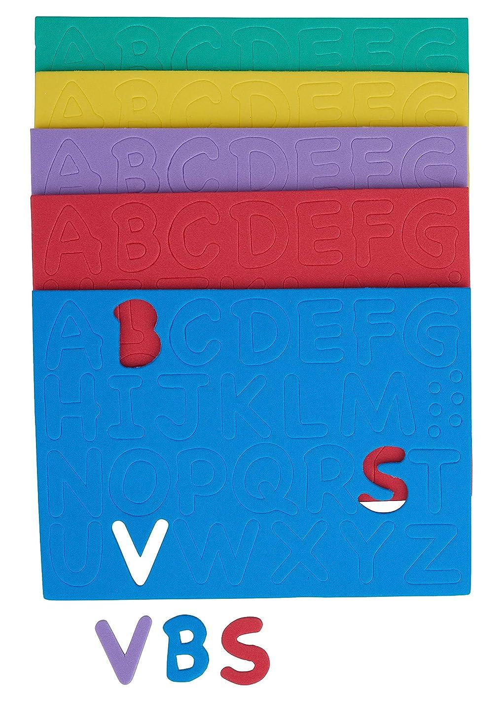 Glorex Foam Rubber Letters Embossed 130?15?mm More?–?14.5?x 15.5?x 1?cm