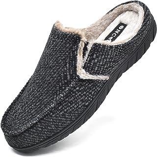ONCAI Zapatillas de Casa para Hombre-Tartán Pantuflas Hombre de Invierno Memory Foam-Antideslizante Tweed Mocasines Zuecos...
