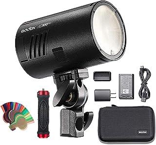 Godox AD100Pro AD100 PRO 100Ws Pocket Flash 2.4GHz TTL 1 / 1800s con batería 2600mAh 360 Full Power Flashes compatible con...
