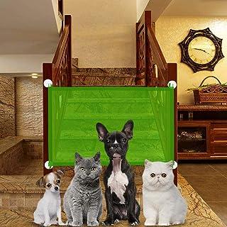 OUTERDO Mesh Pet Gate, Pet Isolation Net Portable Folding Stair Gate Flexible Magic Pet Gate Safe Guard Wide Safety Mesh B...