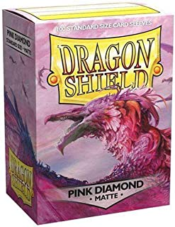 Dragon Shield Sleeves - Matte Pink Diamond 100 CT – MGT Card Sleeves are Smooth & Tough – Compatible with Pokemon, Yugioh,...