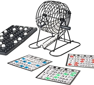 Hey! Play! Complete Bingo Set - Deluxe Classic Carnival & Casino Game for Kids & Adults with Tumbler Cage, Master Board, Sheets & Markers (AF358000)