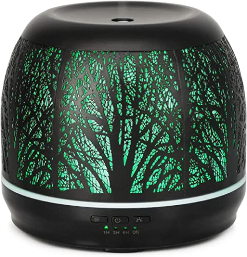Essential Oil Diffusers for Essential Oils Large Room Aroma Therapy 500 ml - Metal Forest Ultrasonic Difussers | Diff...