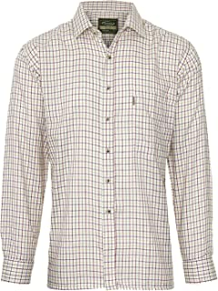 Mens Champion Tattersall Country Style Casual Long Sleeved Shirt Wine XL XL Wine