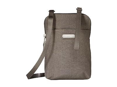 Baggallini New Classic Take Two RFID Bryant Crossbody (Sterling Shimmer) Handbags