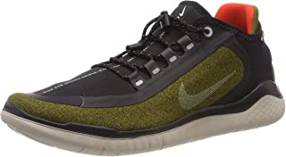 Men's Free RN 2018 Shield Running Shoe Olive/Silver/Black (US 10)