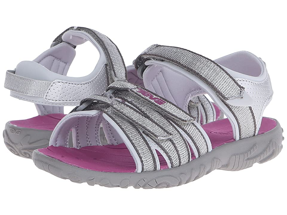 Teva Kids Tirra (Toddler/Little Kid/Big Kid) (Silver/Magenta) Girls Shoes