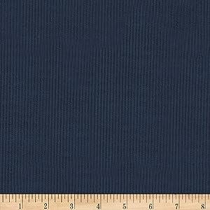 Robert Kaufman Kaufman Corduroy 8 Wale Solid Navy Fabric
