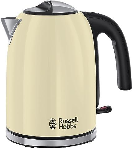 -Russell Hobbs Colours Plus+ Vintage Cream Waterkoker Crème/Off-White (1,7L), Snelkookfunctie, Extra Zuinig, 2.400 Watt/ 2,4kW, RVS/ Hoogglans Crème, 20415-70-aanbieding