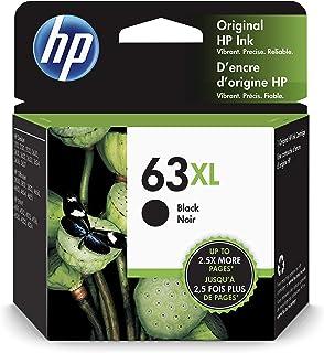 HP 63XL Black Ink Cartridge (F6U64AN) for HP Deskjet 1112 2130 2132 3630 3632 3633 3634 3636 3637 HP ENVY 4512 4513 4520 4523 4524 HP Officejet 3830 3831 3833 4650 4652 4654 4655