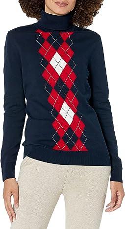 Vertical Argyle Stella Sweater