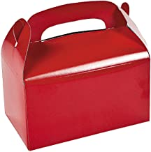 Fun Express - Red Treat Boxes - Party Supplies - Containers & Boxes - Paper Boxes - 12 Pieces