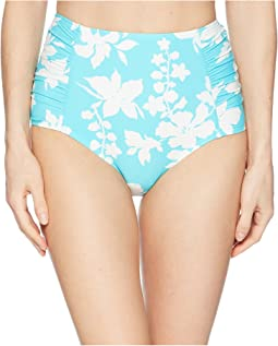 Floral Vine High-Waisted Bikini Bottoms
