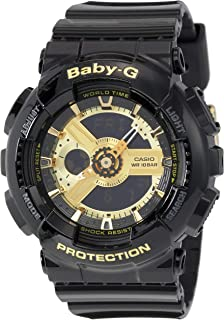 Casio Baby G Women BA110-1A Year-Round Analog-Digital Automatic Black Watch