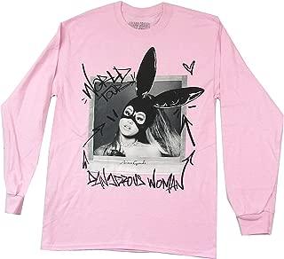 Dangerous Woman World Tour Long Sleeve Pink Shirt