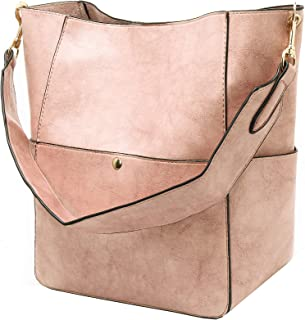 Molodo Women s Satchel Hobo Top Handle Tote Shoulder Purse Soft Leather  Crossbody Designer Handbag Big Capacity c55fecc3b0ebc