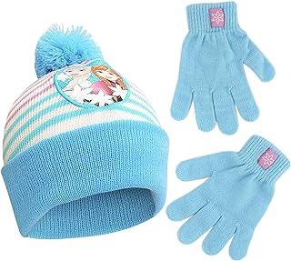 Disney Girls' Toddler Frozen Elsa Beanie Hat and Mittens