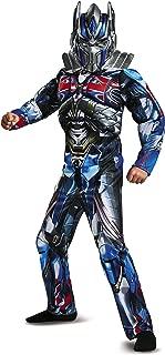 Disguise Optimus Prime Movie Classic Muscle Costume, Blue, Medium (7-8)