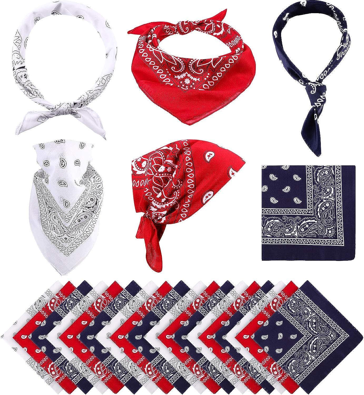 18 Save money Pieces New products world's highest quality popular Paisley Bandanas Cowboy Wrap Scarf Wristban Print Head
