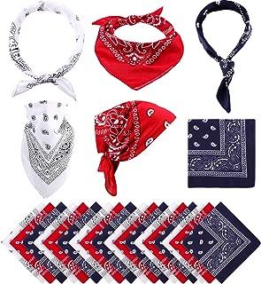 Paisley Bandanas Cowboy Bandanas Unisex Novelty Print Head Wrap Scarf Wristband