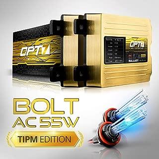 OPT7 Bolt AC 55w Hi-Power H11 H8 H9 HID Kit - All Bulb Sizes and Colors - TIPM Resistor Bundle - 2 Yr Warranty [10000K Deep Blue Xenon Light]