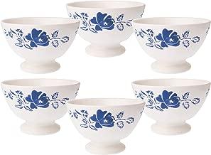 Kom Amsterdam 6X365913x 8cm Set of 6Medium Bowl, Rose Blue