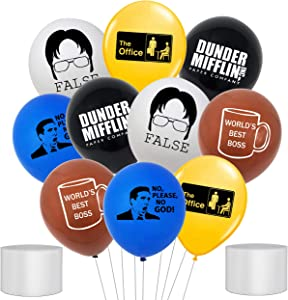 50Pcs The Office TV Show Balloons The Office Merchandise Latex Balloon IT is Your Birthday Office Decor The Office Dunder Mifflin Balloon for The Office Party Merchandise Decoration