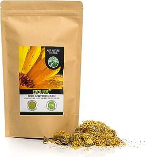Flores de caléndula (125g), té de caléndula, flores enteras, caléndula de naranja, suavemente seca, 100% pura y natural para la preparación de té, té de hierbas, flores comestibles