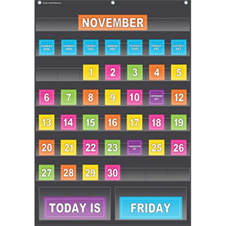 Rules Display Schedule Learning Objectives and More! Measures 14 x 21 1//4 Lime Green Classroom Pocket Chart by Happy Teacher with 8 Pockets Spelling Words 8 Blank Cards Homework
