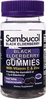 Sambucol Black Elderberry Gummies, 30 Gummies