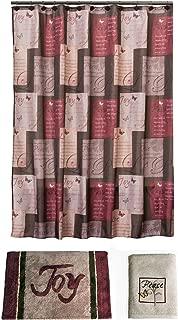 Saturday Knight Inspirational Bathroom Shower Curtain Set Grace with Matching Rug Bath Towel