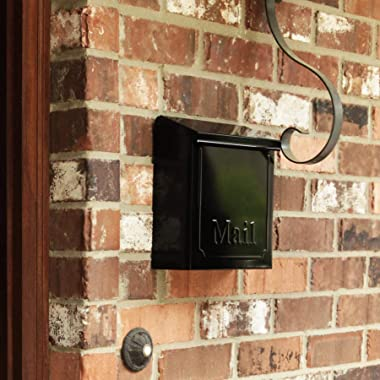 "Solar THVKB0001 THVKB001 Black Townhouse Wall Mount Mailbox, 10.75"""