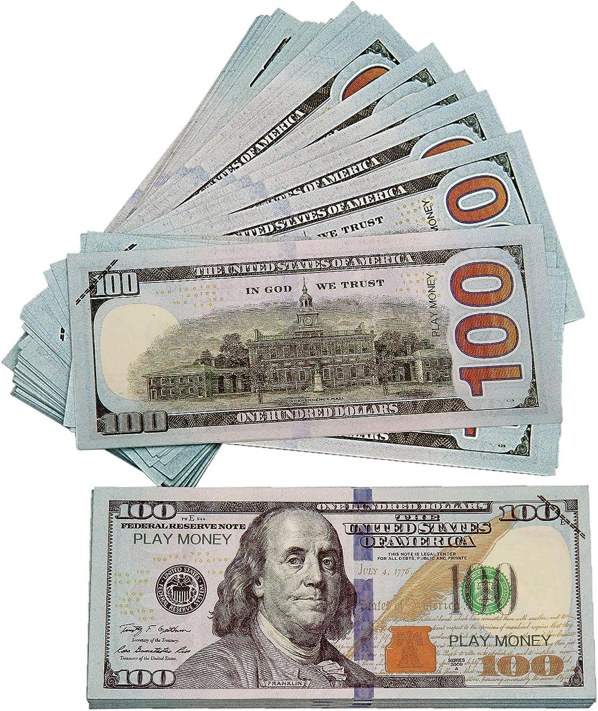 CKBYHYG Fake Money 100 Nippon regular agency Pieces Realis Dollar Prop favorite Bills