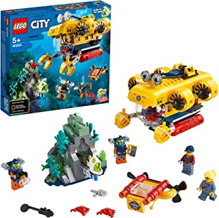 LEGO City Oceans Ocean Exploration Submarine 60264 building set with 4 minifigures, Toy for Boys and Girls 5+ years old (2...