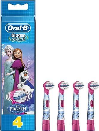 Oral-B Stages Power Cabezal de Recambio para Cepillo Eléctrico con los Personajes de Frozen x4