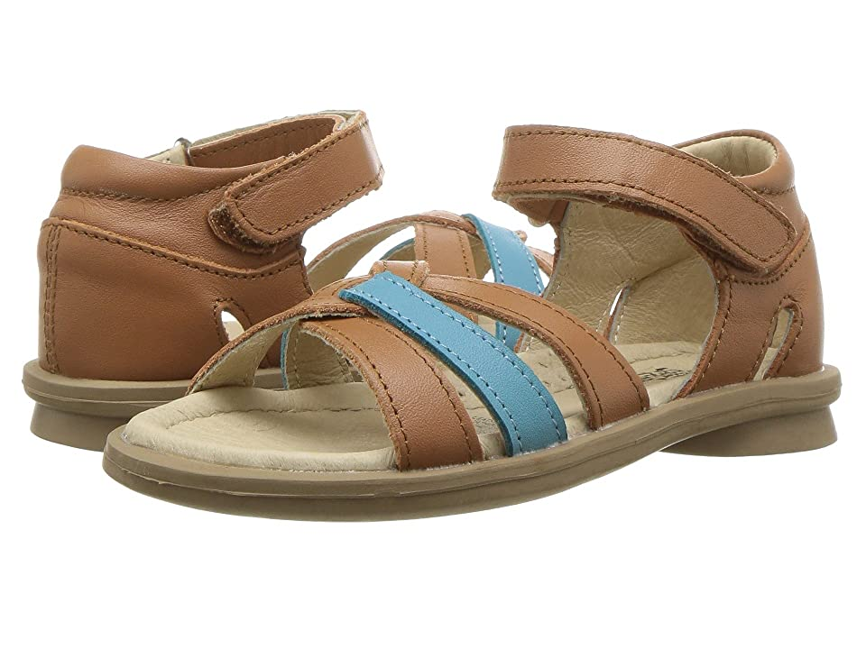 Old Soles Clarise (Toddler/Little Kid) (Tan/Turquoise) Girl