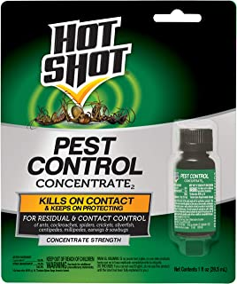 Hot Shot Pest Control Concentrate, Makes Up To 2 Gallons, 1-Ounce, 12-pack