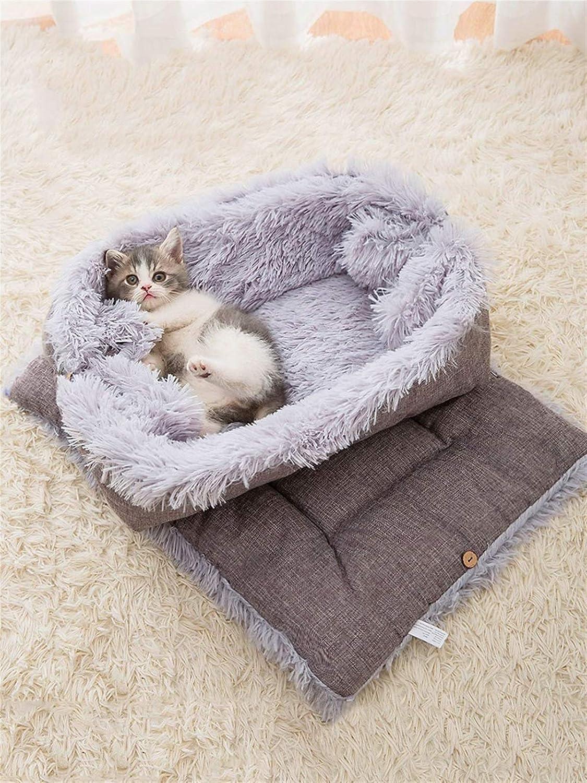 hgkl Cat Bed Plush cat Room Many popular brands Warm Elegant mat Dual-Purpose Winter