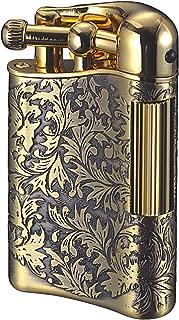 Sarome Flint Cigarette Lighter SD12-11 Antique brass arabesque